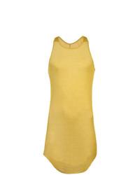 Camiseta sin mangas amarilla de Rick Owens