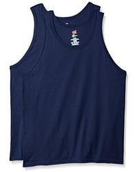Camiseta sin mangas azul marino de Hanes