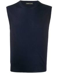 Camiseta sin mangas azul marino de Lamberto Losani