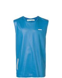 Camiseta sin mangas azul de Off-White