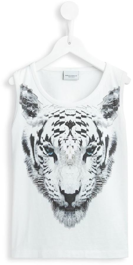 Camiseta sin mangas blanca