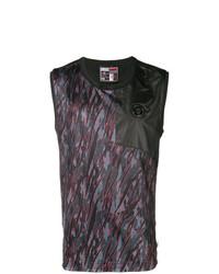 Camiseta sin mangas de camuflaje en gris oscuro de Plein Sport