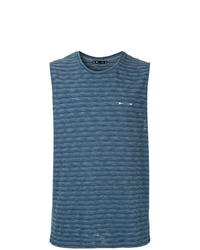 Camiseta sin mangas de rayas horizontales azul de The Upside