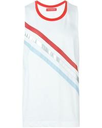Camiseta sin mangas de rayas horizontales blanca de Gosha Rubchinskiy