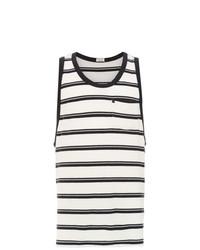 Camiseta sin mangas de rayas horizontales en blanco y negro de OSKLEN