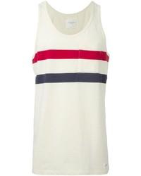 Camiseta sin mangas de rayas horizontales en blanco y rojo y azul marino de Saturdays Surf NYC