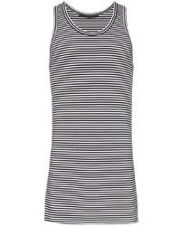 Camiseta sin mangas de rayas horizontales en negro y blanco de Haider Ackermann