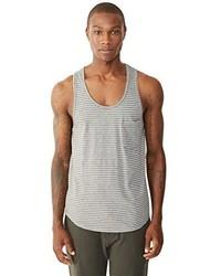 Camiseta sin mangas de rayas horizontales gris de Alternative