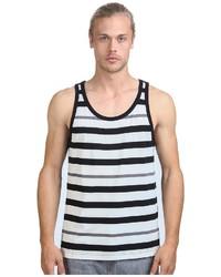 Camiseta sin mangas en blanco y negro