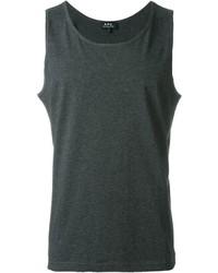 Camiseta sin mangas en gris oscuro de A.P.C.