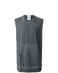 Camiseta sin mangas en gris oscuro de Lost & Found Rooms