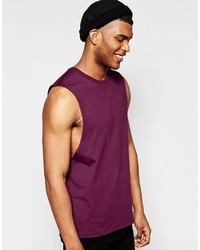 Camiseta sin mangas en violeta
