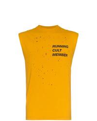 Camiseta sin mangas estampada amarilla de Satisfy