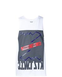 Camiseta sin mangas estampada blanca de Ktz