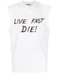 Camiseta sin mangas estampada blanca de McQ