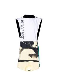 Camiseta sin mangas estampada blanca de Raf Simons