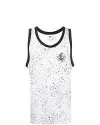 Camiseta sin mangas estampada en blanco y negro de adidas