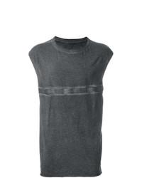 Camiseta sin mangas estampada en gris oscuro de Isaac Sellam Experience