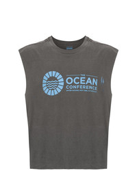 Camiseta sin mangas estampada en gris oscuro de OSKLEN