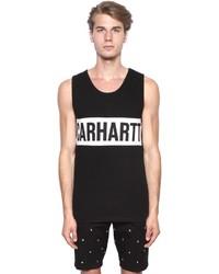 Camiseta sin mangas estampada en negro y blanco