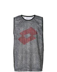 Camiseta sin mangas estampada en negro y blanco de Damir Doma