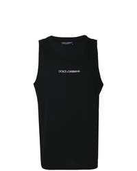 Camiseta sin mangas estampada en negro y blanco de Dolce & Gabbana