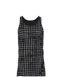 Camiseta sin mangas estampada en negro y blanco de Haider Ackermann
