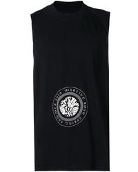 Camiseta sin mangas estampada en negro y blanco de Martine Rose