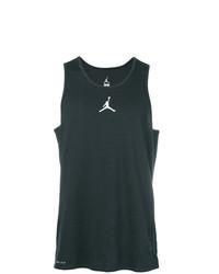 Camiseta sin mangas estampada en negro y blanco de Nike