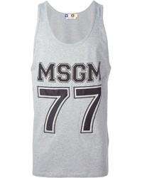 Camiseta sin mangas estampada gris
