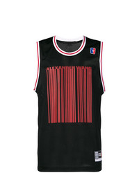 Camiseta sin mangas estampada negra de Alexander Wang