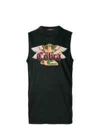 Camiseta sin mangas estampada negra de DSQUARED2