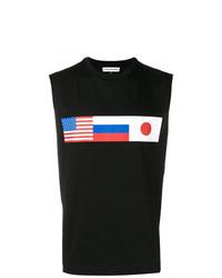 Camiseta sin mangas estampada negra de Gosha Rubchinskiy