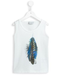 Camiseta sin mangas estampada