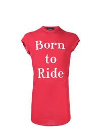 Camiseta sin Mangas Estampada Roja de DSQUARED2