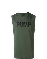 Camiseta sin mangas estampada verde oliva de Ron Dorff
