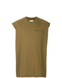 Camiseta sin mangas estampada verde oliva de Song For The Mute