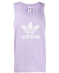 Camiseta sin mangas estampada violeta claro de adidas