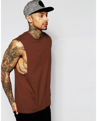 Camiseta sin mangas marrón