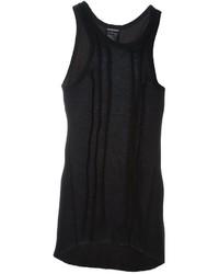 Camiseta sin mangas negra de Ann Demeulemeester