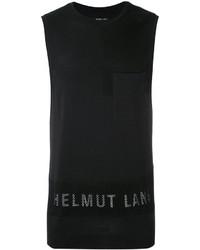 Camiseta sin mangas negra de Helmut Lang
