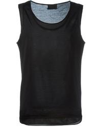 Camiseta sin mangas negra de Les Hommes