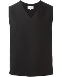Camiseta sin mangas negra de Maison Margiela