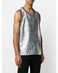 Camiseta sin mangas plateada de Gucci