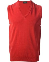Camiseta sin Mangas Roja de Zanone