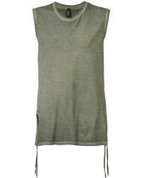 Camiseta sin mangas verde oliva de Tom Rebl