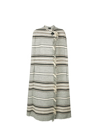 Capa de rayas horizontales gris de Isabel Marant