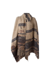 Capa de rayas horizontales marrón claro de Etro