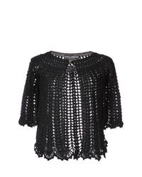 Cárdigan abierto de punto negro de Dolce & Gabbana