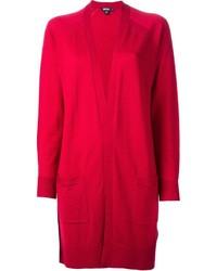 Cárdigan abierto rojo de DKNY
